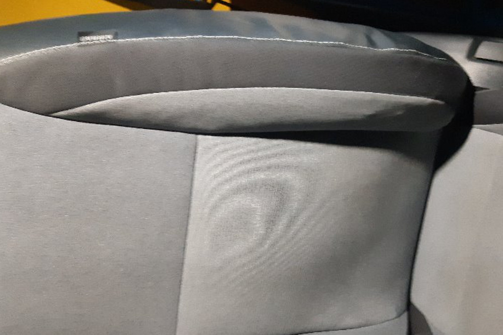 Repair of seat cover after deployed airbag