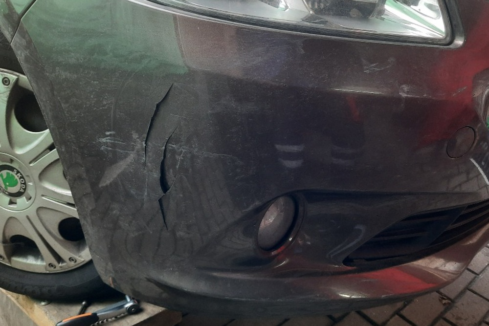 Photo gallery, repair of Peugeot 301 bumper